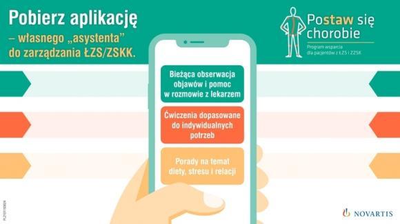 Aplikacja na telefon dla pacjentów z ZZSK i ŁZS wsparciem w chorobie