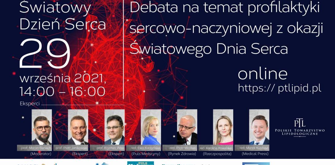 Debata z okazji Światowego Dnia Serca 29 września 2021 r.