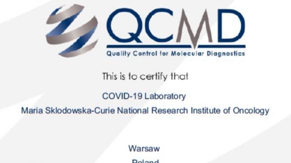 Laboratorium covidowe NIO-PIB z certyfikatem jakości QCMD