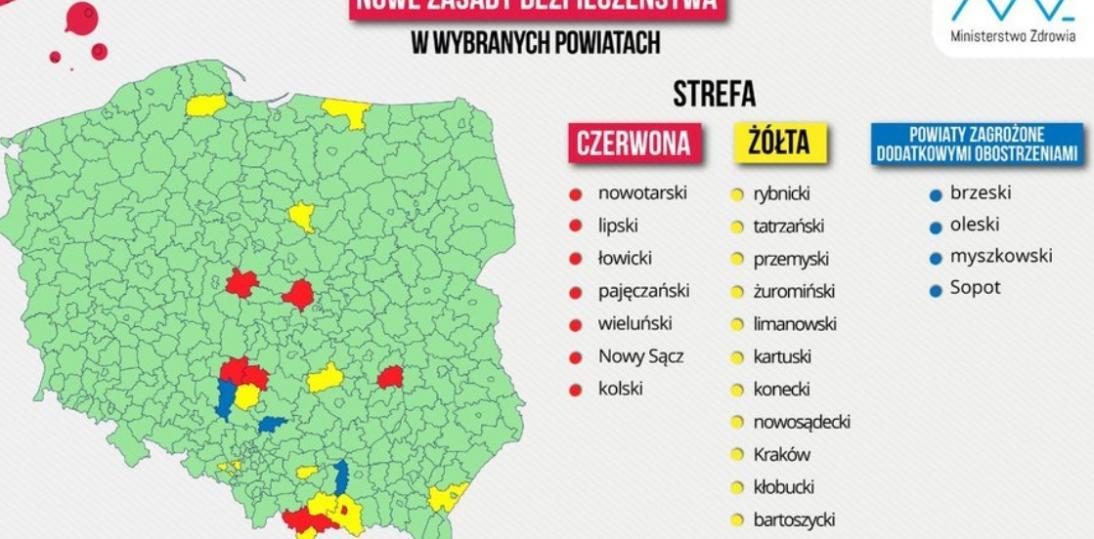 Aktualna lista powiatów z obostrzeniami w czasie pandemii (27.08.20)
