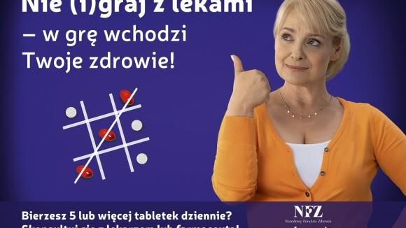 1/3 Polaków po 65 roku życia przyjmuje co najmniej 5 leków dziennie