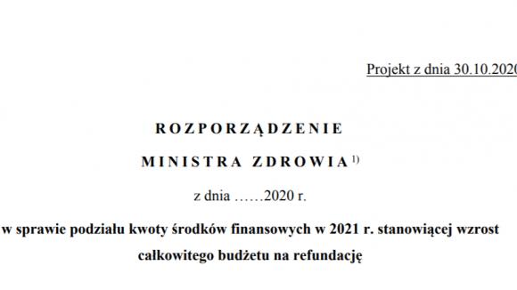 Do konsultacji przekazano projekt budżetu na refundację w 2021 r.