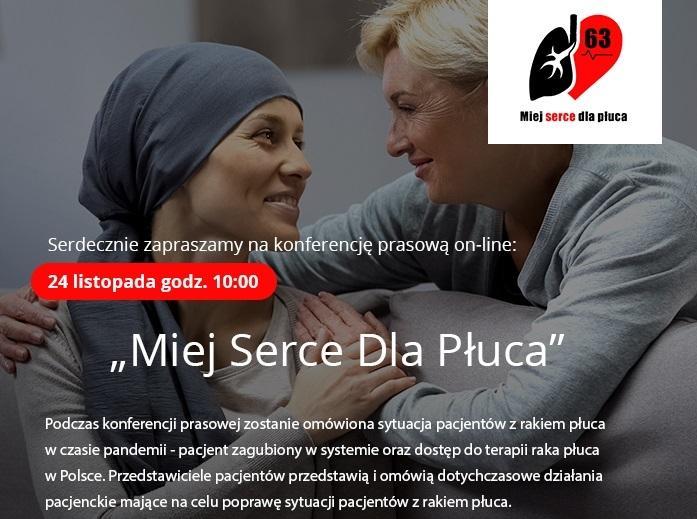 Miej Serce dla Płuca - zaproszenie na konferencję 24.11.20