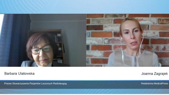Sytuacja pacjentów onkologicznych leczonych radioterapią w czasie pandemii - wywiad z Barbarą Ulatowską