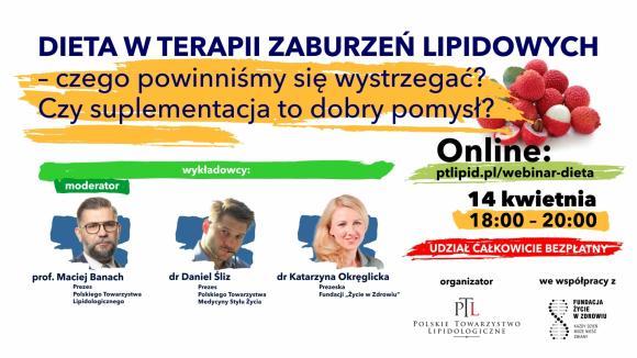 Webinar DIETA W TERAPII ZABURZEŃ LIPIDOWYCH
