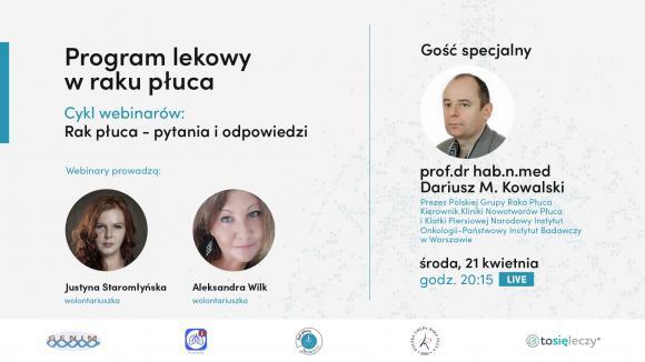 Webinar dla pacjentów PROGRAM LEKOWY RAKA PŁUCA