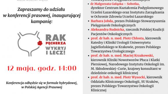 """""""Rak pęcherza- wykryj i lecz!"""" - konferencja prasowa"""