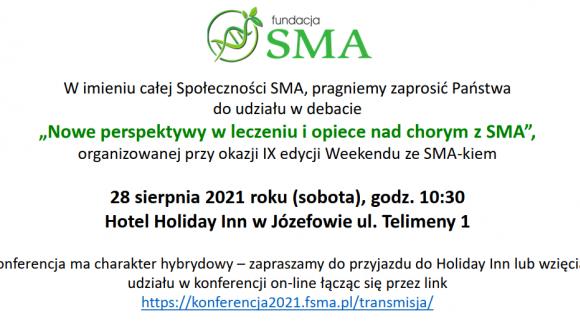 """Debata """"Nowe perspektywy w leczeniu i opiece nad chorym z SMA"""""""
